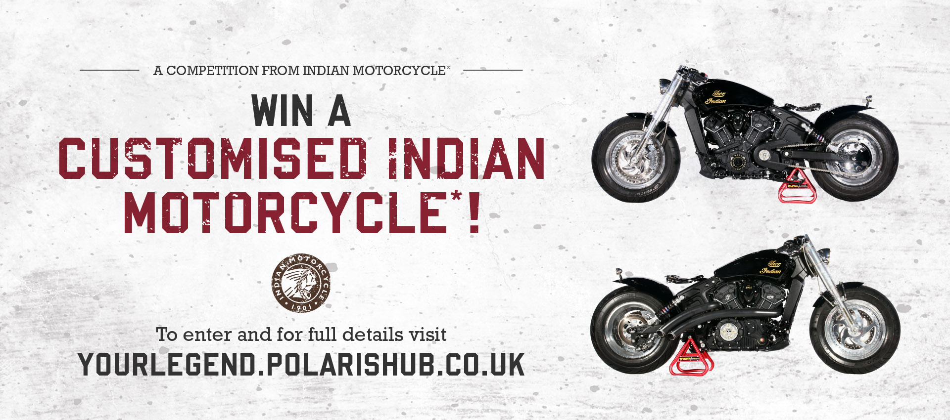 Win a customised Indian Motorcycle